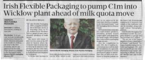 Photo of Eamonn Farell, managing Director, Irish Flexible Packaging