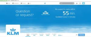 KLM twitter feed