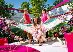 Marie Keating Foundation 'bra hammock' at Bloom in the Park