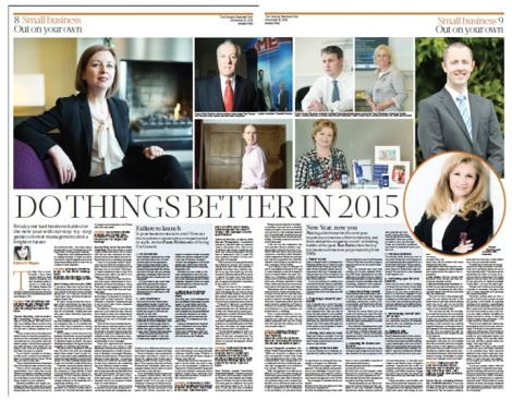 Out On Your Own, Elaine O'Regan, Sunday Business Post, 28/11/2014