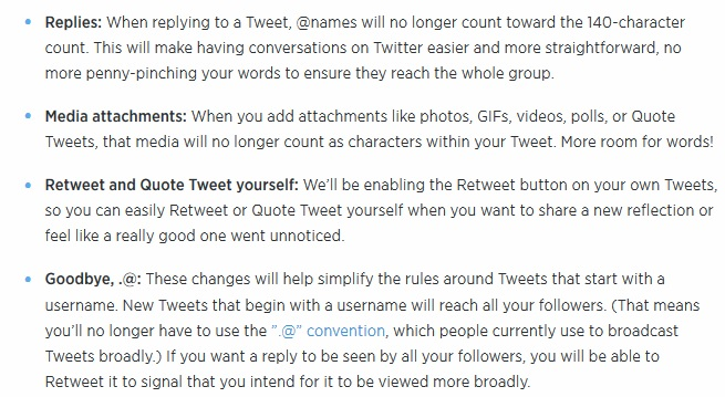 twitter changes announced May 24th 2016