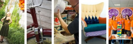Social Enterprises from bike remodelling to repurposing fashion to rediscovering paint.